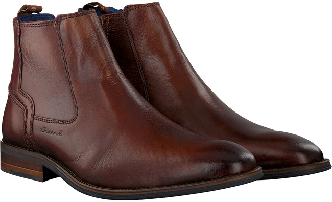 Cognacfarbene BRAEND Ankle Boots 24703 - large