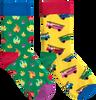 Mehrfarbige/Bunte HAPPY SOCKS Socken ONE FIRE SOCKS  - small