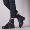 Schwarze VERTON Ankle Boots 329  - small