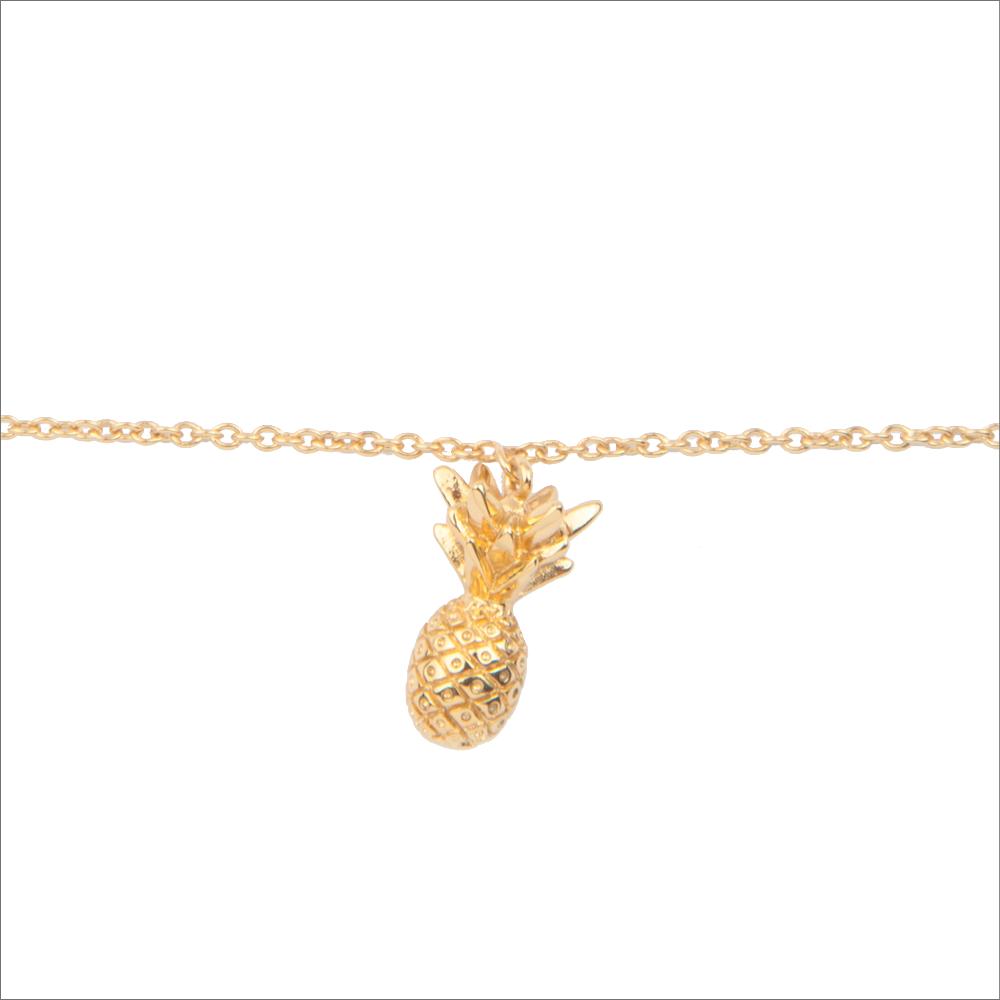 Goldfarbene ALLTHELUCKINTHEWORLD Armband SOUVENIR BRACELET PINEAPPLE sfLUB