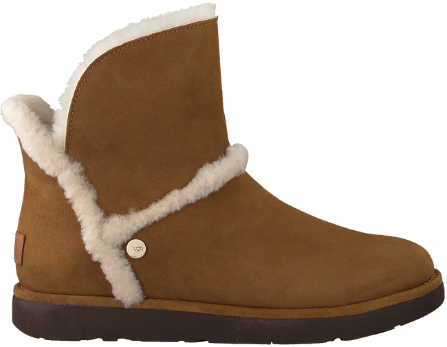 Camelfarbene UGG Winterstiefel LUXE SPILL SEAM MINI - large
