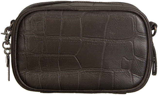 Graue BY LOULOU Portemonnaie SHINY CROCO - large