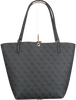 Schwarze GUESS Handtasche ALBY TOGGLE TOTE  - small