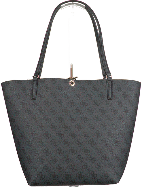 Schwarze GUESS Handtasche ALBY TOGGLE TOTE  - large