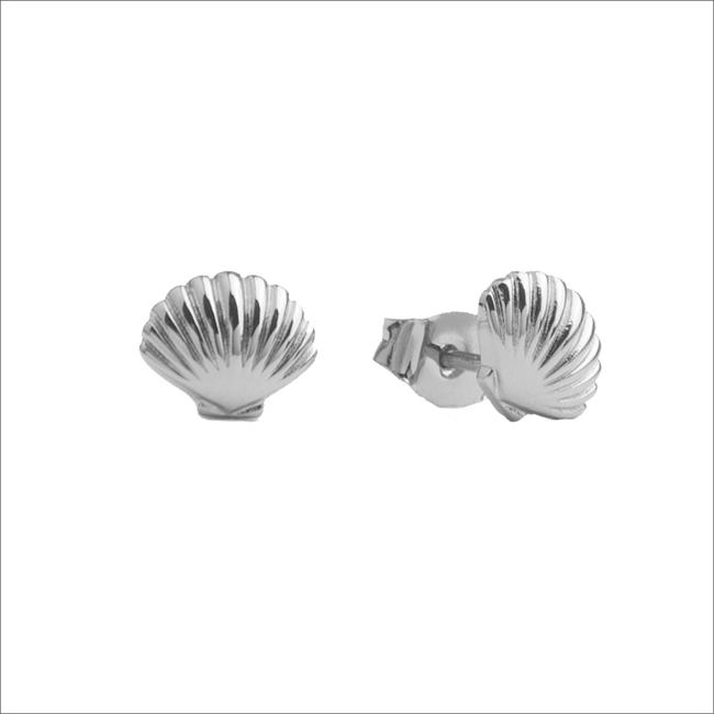 Silberne ALLTHELUCKINTHEWORLD Ohrringe PARADE EARRINGS SEA SHELL - large