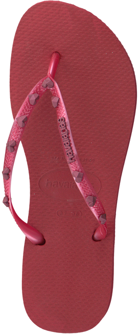 Rote HAVAIANAS Zehentrenner SLIM HARDWARE - large