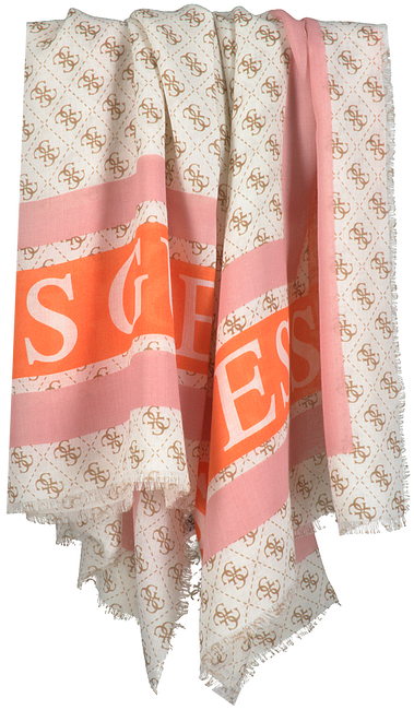 Weiße GUESS Schal MONIQUE PRINTED KEFIAH  - large
