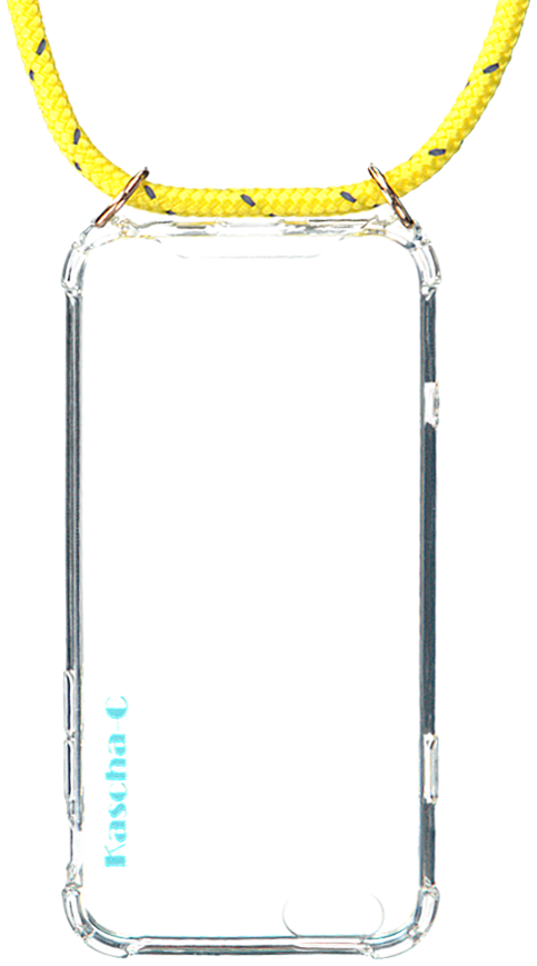 Gelbe KASCHA-C Handy-Schutzhülle PHONECORD IPHONE 7+/8+ ZX3Pb