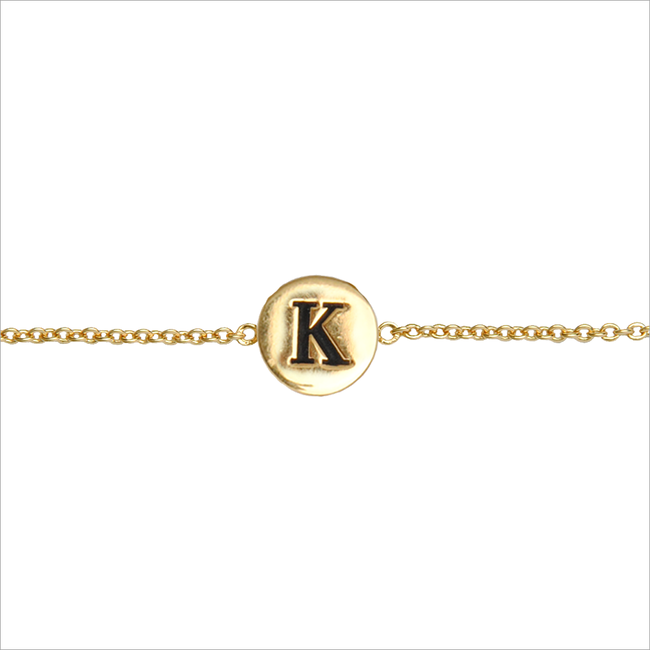 Goldfarbene ALLTHELUCKINTHEWORLD Armband CHARACTER BRACELET LETTER GOLD - large