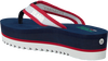 Blaue TOMMY HILFIGER Pantolette RECYCLED MESH MID BEACH  - small