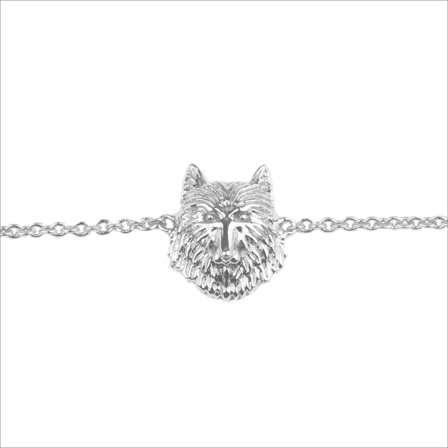 Silberne ALLTHELUCKINTHEWORLD Armband SOUVENIR BRACELET WOLF - large