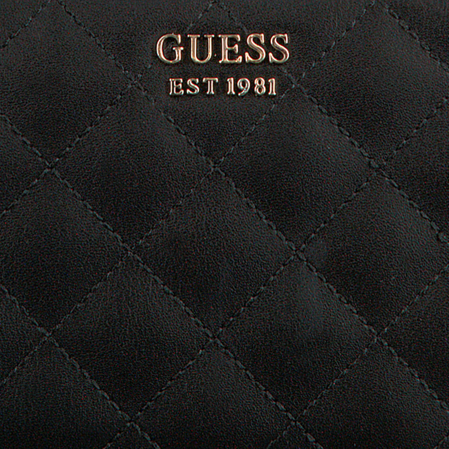 Schwarze GUESS Portemonnaie MIRIAM SLG LARGE ZIP AROUND  - large