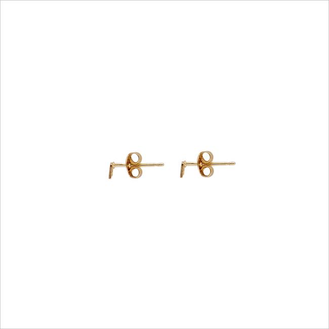Goldfarbene ALLTHELUCKINTHEWORLD Ohrringe PETITE EARRINGS SQUARE - large