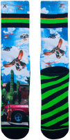 Mehrfarbige/Bunte XPOOOS Socken WHO'S FIRST  - medium