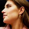 Goldfarbene ALLTHELUCKINTHEWORLD Ohrringe CHARACTER EARRINGS LETTER - small