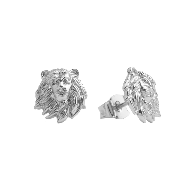 Silberne ALLTHELUCKINTHEWORLD Ohrringe PARADE EARRINGS LION - large