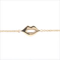 Goldfarbene ALLTHELUCKINTHEWORLD Armband SOUVENIR BRACELET LIPS - medium