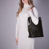 Grüne MYOMY Handtasche MY PAPER BAG LONG HANDLE ZIP  - small