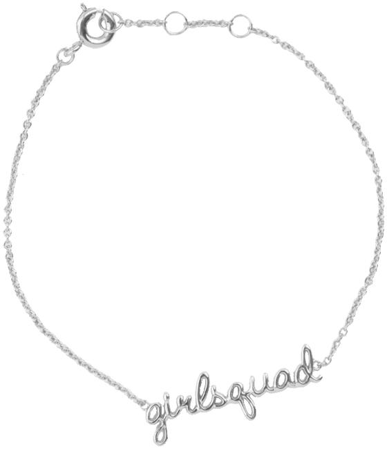 Silberne ALLTHELUCKINTHEWORLD Armband URBAN BRACELET GIRLSQUAD - large