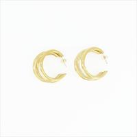 Goldfarbene NOTRE-V Ohrringe OORBEL DRIE RINGEN  - medium