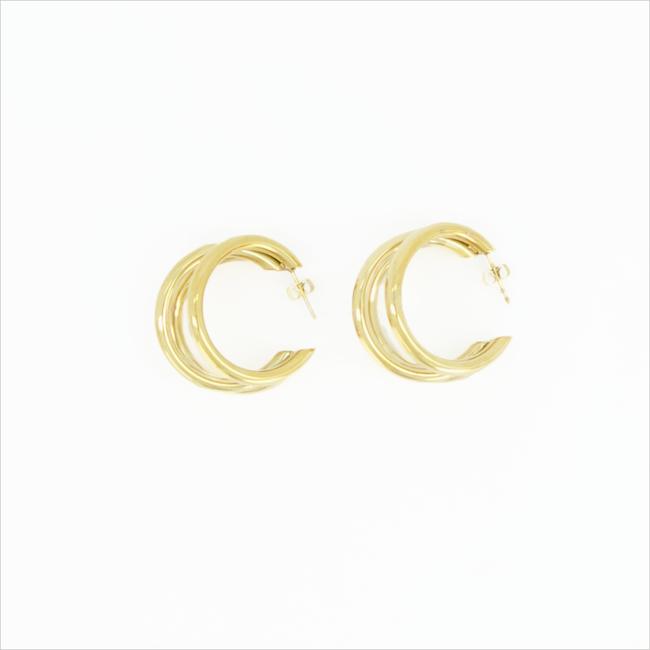 Goldfarbene NOTRE-V Ohrringe OORBEL DRIE RINGEN  - large