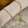 Goldfarbene NOTRE-V Kette KETTING SLOTJE  - small