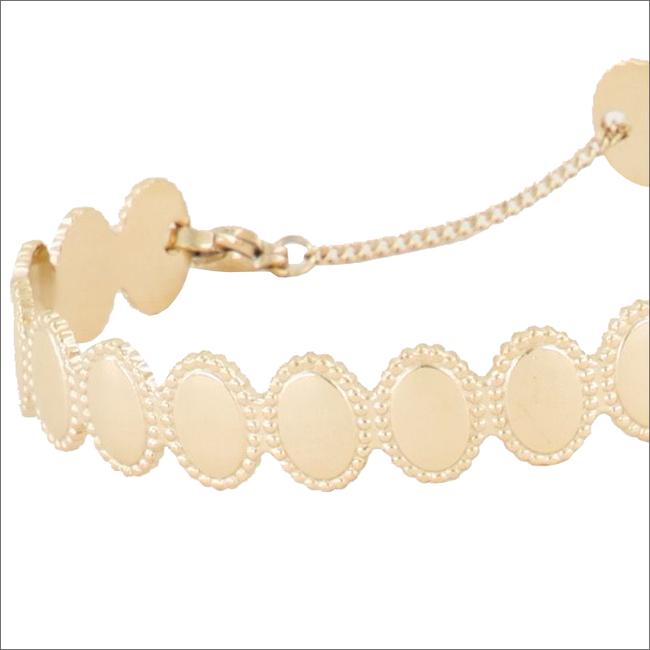 Goldfarbene MY JEWELLERY Armband BANGLE MET OVAALTJES  - large