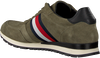 green TOMMY HILFIGER shoe LUXERY SUEDE RUNNER  - small