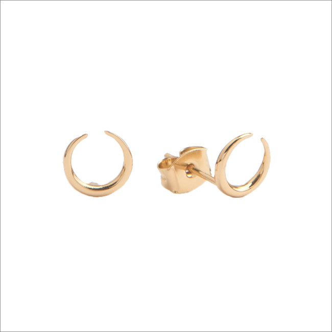 Goldfarbene ALLTHELUCKINTHEWORLD Ohrringe PARADE EARRINGS HORN - large