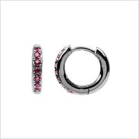Silberne ATLITW STUDIO Ohrringe BLISS EARRINGS CREOLE PINK RUB  - medium