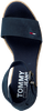 Blaue TOMMY HILFIGER Sandalen NATURAL WEDGE  - small