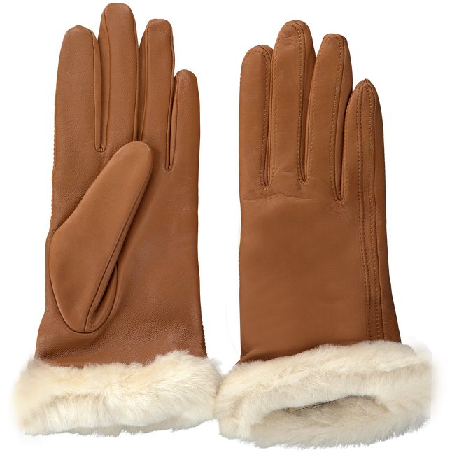 Cognacfarbene UGG Handschuhe CLASSIC LEATHER SMART GLOVE - large