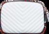 Weiße GUESS Umhängetasche KAMRYN CROSSBODY TOP ZIP  - small