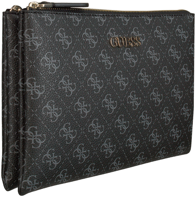 Graue GUESS Umhängetasche MACI MINI DOUBLE ZIP CROSSBODY  - large