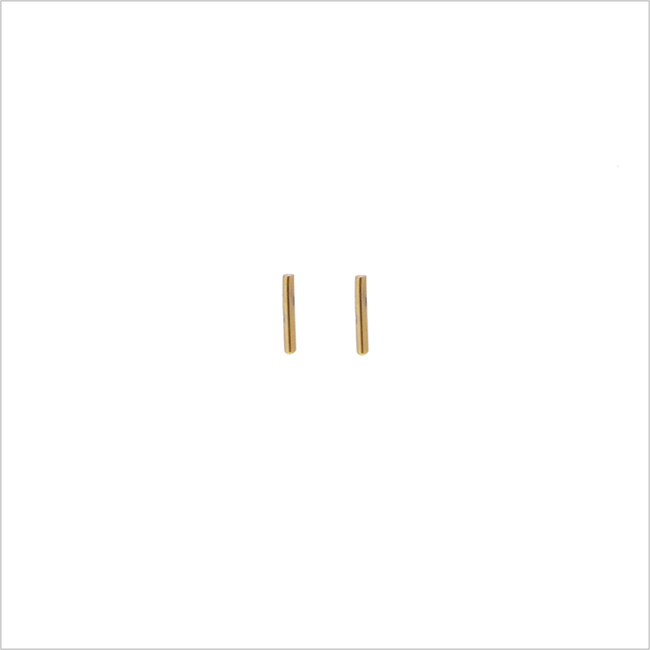Goldfarbene ALLTHELUCKINTHEWORLD Ohrringe PETITE EARRINGS STRIP - large