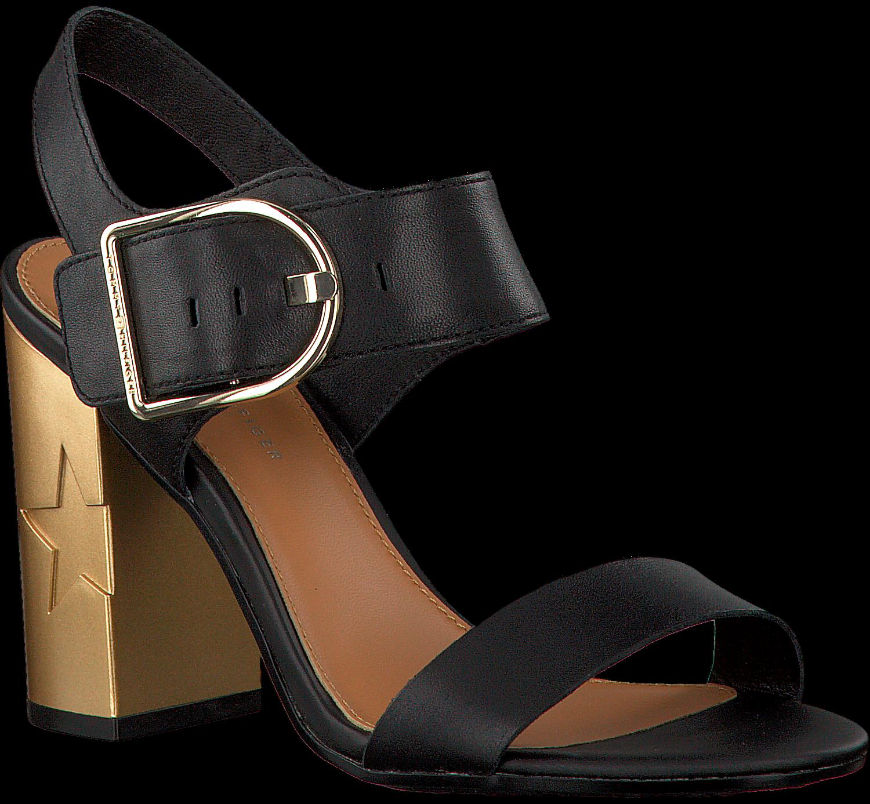 Tommy Hilfiger Sandalen »feminine Heel Oversized Buckle«, Schwarz, Black