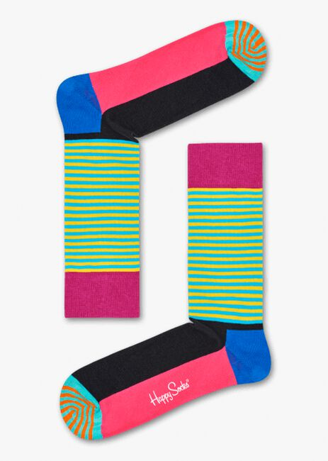 Blaue HAPPY SOCKS Socken HALF STRIPE  - large