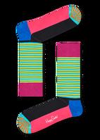 Blaue HAPPY SOCKS Socken HALF STRIPE  - medium