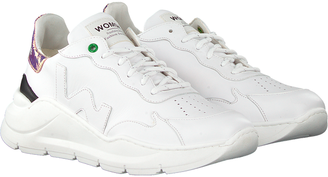 Weiße WOMSH Sneaker low WAVE WHITE SHINY  - large