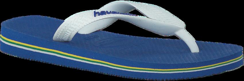 Blaue HAVAIANAS Zehentrenner BRASIL LOGO KIDS - larger