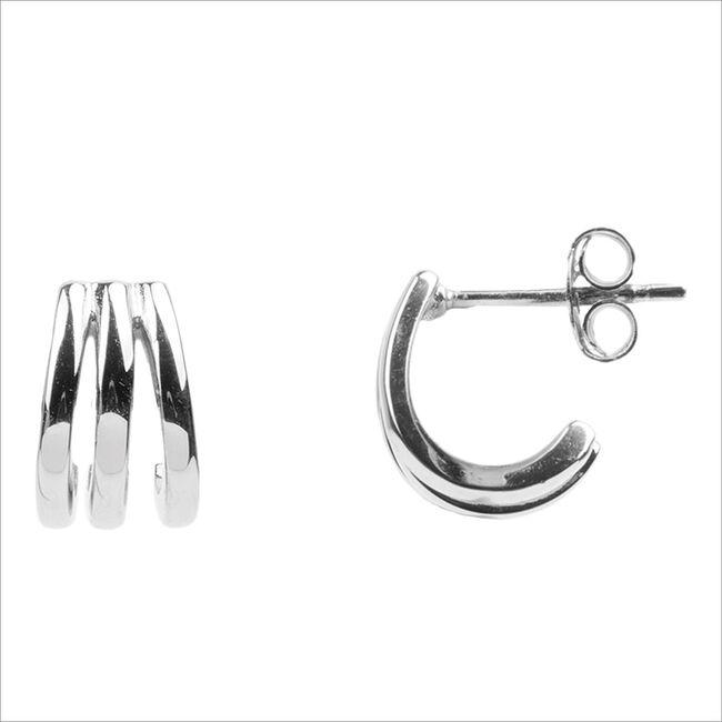 Silberne ATLITW STUDIO Ohrringe BLISS EARRINGS 3 SPLIT  - large
