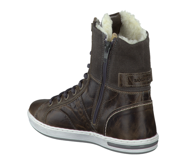 Graue BJORN BORG Ankle Boots ADRIAN HIGH KIDS - large