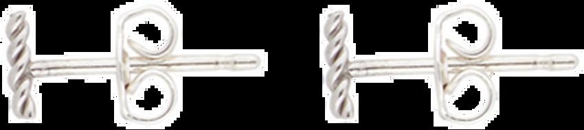 Silberne ALLTHELUCKINTHEWORLD Ohrringe PETITE EARRINGS TWISTED STRIP - larger