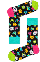 Mehrfarbige/Bunte HAPPY SOCKS Socken FUNNY CAT  - medium