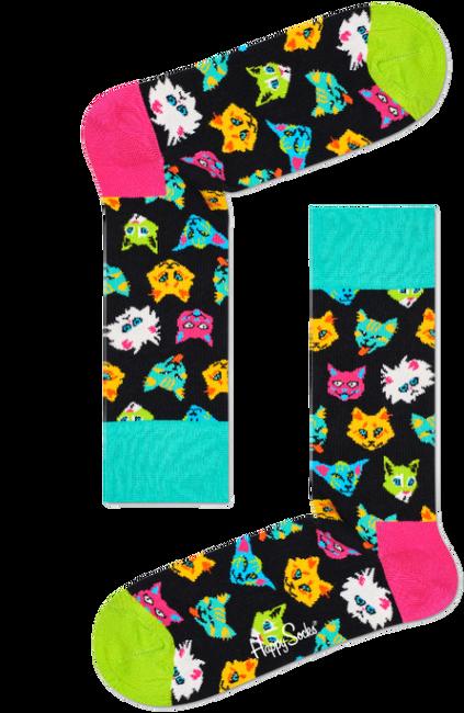 Mehrfarbige/Bunte HAPPY SOCKS Socken FUNNY CAT  - large