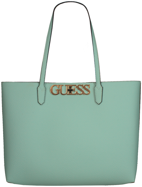 Blaue GUESS Handtasche UPTOWN CHIC BARCELONA TOTE  - large