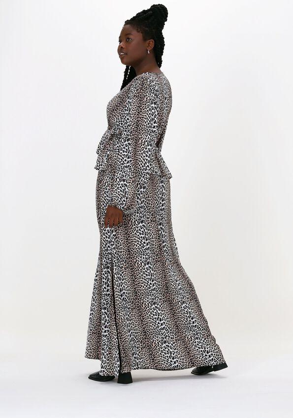 Beige NOTES DU NORD Maxikleid ALICIA LEOPARD DRESS  - larger