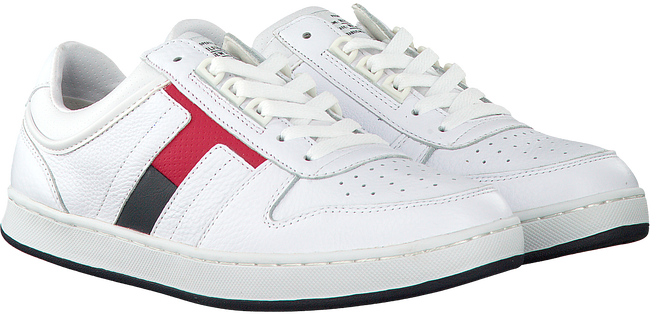 Weiße TOMMY HILFIGER Sneaker CORE MATERIAL MIX SNEAKER - large