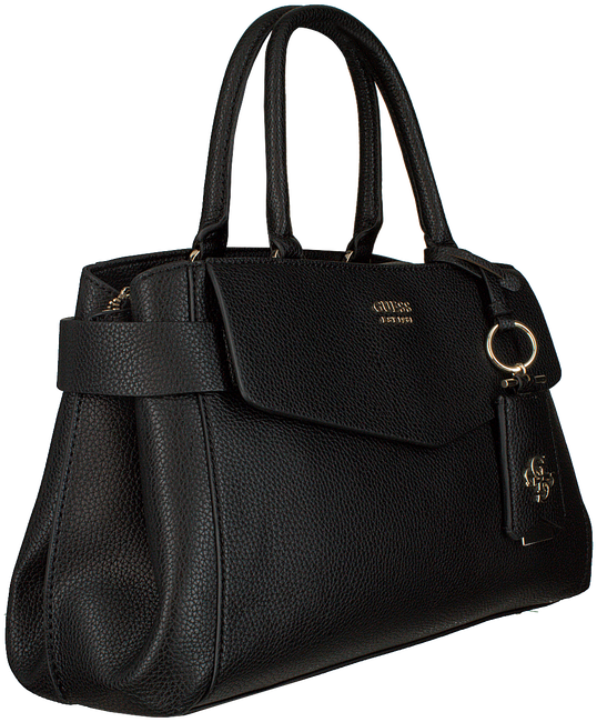 Schwarze GUESS Handtasche COLETTE GIRLFRIEND SATCHEL  - large