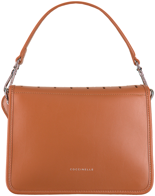 Cognacfarbene COCCINELLE Handtasche AMBRINE PERFO  - large
